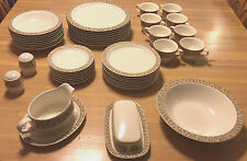 46-Pc Mikasa Ironstone Dinner Service for 8, Potters Touch C8022 Sahara VG Cond