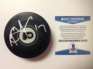 Rod Brind' Amour Signed Autographed Philadelphia Flyers Puck Beckett BAS COA a