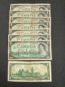 Canada One Dollar $1 (1967) WITH SERIAL - Circulated Notes