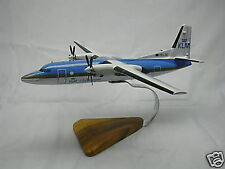 Fokker 50 KLM Wood Airplane Model BIG Free Shipping