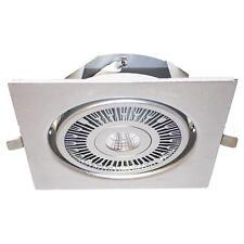 LED Einbau-Strahler Downlight Spot SHARP 12W 180x180mm silber schwenkbar dimmbar