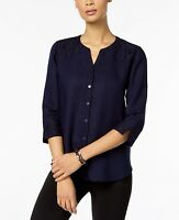 JM Collection Women's Lace Trim 3/4 Sleeve Top Size 10