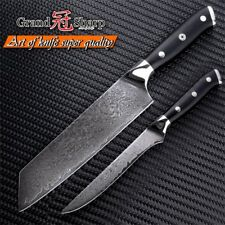 2-Piece Knife Set Chef Boning Knife VG10 Japanese Damascus Steel Kitchen Knives