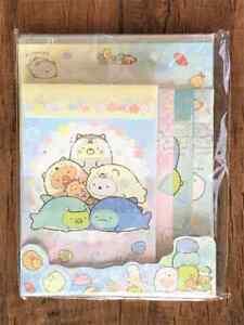 San-X  Sumikko Gurashi Letter Sheet Envelope Set Stationery Japanese  4sets Sea