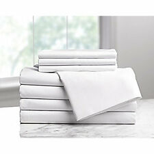 DRYFAST Fitted Sheet,Twin Size,75 in. L,PK6, 1A29705, White