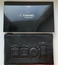 Chanel COSMETIC / MAKEUP BAG pouch black VIP GIFT