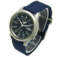 Seiko Automatic Military Blue Nylon Sports Watch SNK807 SNK807K2 Men's Day Date
