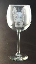 New Etched Basenji on Large Elegant Wine Glasses - Set of 2