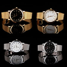 Ladies Fashion Gold or Silver Tone Black or White Face Mesh Band Wrist Watch.