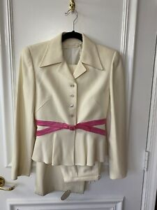 $3750 VALENTINO 2pc Ivory Suit Set With Tags