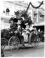 Vtg Orig. 8x10 1986 Publicity Photo Walt Disney Mickey & Minnie MOuse Coach Ride