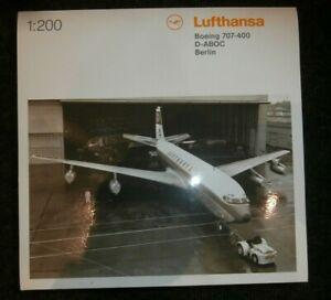 herpa 557818 1:200 Boeing 707-400 Lufthansa D-ABOC Berlin Metall OVP