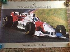 1996 F1 McLaren Mercedes Poster! Marlboro - Mika Hakkinen!