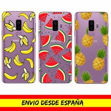 Funda Movil Cases Samsung Frutas Piñas Platanos Comida Cover Carcasa Dibujo