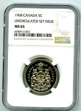 1968 CANADA 50 CENT NGC MS65 HALF DOLLAR UNCIRCULATED SET ISSUE