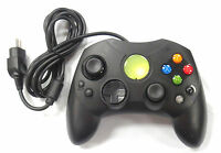 XBOX S WIRED CONTROLLER  BLACK (Original XBOX) - Old Skool