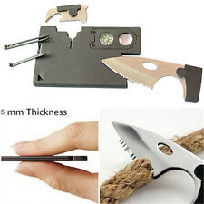 10 in 1 Multi Purpose Pocket Credit Card Survival Knife Outdoor Camping Tools CX