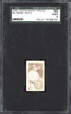 1949 Topps Magic Photos Hocus Focus Gum Babe Ruth New York Yankees SGC 50 4