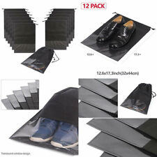 12PCS Travel Shoe Bags Non-Woven Storage with Rope for Men and Women Large...