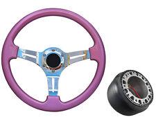 Pink Chrome TS Steering Wheel + Boss Kit for AUDI 036