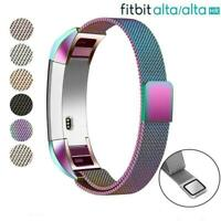 For Fitbit Alta / Alta HR Magnetic Watch Band Strap Milanese Stainless Steel S/L