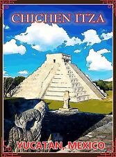 Yucatan Chichen-Itza Mexico Mexican Pyramid Travel Advertisement Art Poster