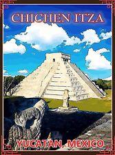 Yucatan Chichen-Itza Mexico Mexican Pyramid Travel Advertisement Art Poster