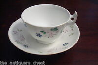 Antique Adderley Chelsea Floral 1800's English tea cup & saucer, Victorian [4-2]