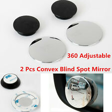 2x Car Ultrathin Wide Angle Round Convex Blind Spot mirror for Parking Rearview