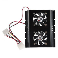 Black 3.5 SATA IDE Hard Disk Drive HDD 2 Fan Cooler for PC CT