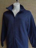 New Just My Size Cotton Blend Fleece Lined Zip Front Mock Neck Jacket 1X navy