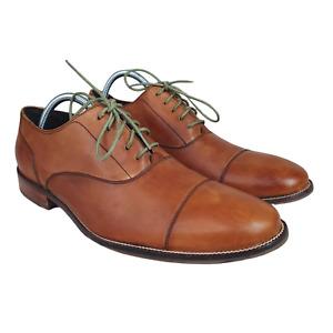 Cole Haan Shoes Mens 9.5 M Williams Cap Toe Oxford British Tan Brown C12337