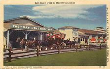 LAS VEGAS, Nevada NV Hotel Last Frontier,  Mint   1940's linen, Horse Carriage