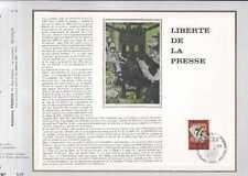 Feuillet CEF Belgique n°58   Liberté de la presse  cachet 13-5-1972 Bruxelles