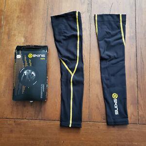 Skins Mens XL Essentials Arm Sleeves Compression Black Yellow A400