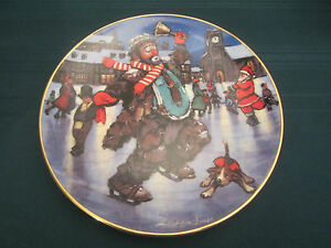 EMMETT KELLY 1994 CHRISTMAS collector plate HOLIDAY SKATER Ice Skate CLOWN