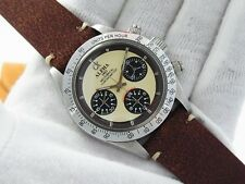ALPHA WATCH DAYTONA WHITE DIAL GLOSSY BEZEL PAUL NEWMAN MECHANICAL CHRONOGRAPH