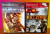 Killzone + Kill Switch - PS2 Playstation 2 Tested Game Lot Bundle