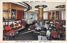 B23/ Erie Pennsylvania Pa Postcard 1941 Commodore Perry Cocktail Lounge Anshutz