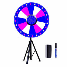 """24"""" Dry Erase Floor Prize Wheel Tripod Stand Party Fortune Spinning Win Game UK"""