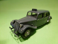 YESTERDAY MODELS 1:43 CITROEN 11CV 1954 - TAXI - RARE SELTEN- GOOD CONDITION