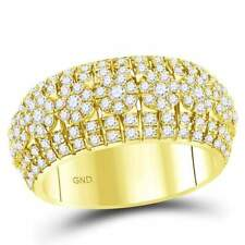 14 kt Yellow Gold  2 1/4 CT-DIA MEN RING