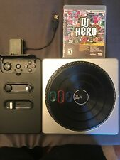 DJ Hero PLAYSTATION 3 Turntable Bundle w/ PS3 Game + Dongle. Barely Used.