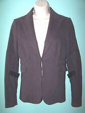 COSTUME NATIONAL Womens V Neck Purple Blazer Size 42 (made in Italy)