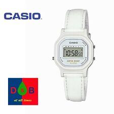 Casio LA11WL-7A Women's Girl's Ladies Digital White Leather Strap Alarm Watch