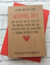 Personalised On Your Wedding Day Card: Best Day Of Your Life (Funny Rude Humour)