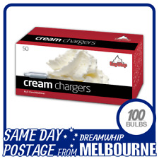 SAME DAY POSTAGE EZYWHIP CREAM CHARGERS 50 PACK X 2 (100 BULBS) WHIPPED N2O