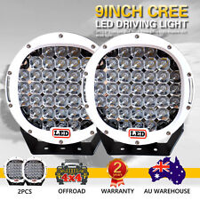2 X 9inch 99999W Cree Led Spot Work Driving Lights OFFROAD White Lights Hot Sale