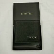 New Ted Baker Black Bifold Wallet With Gift Box