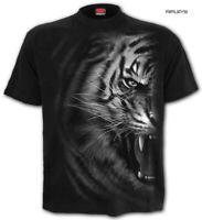 SPIRAL Direct Unisex T Shirt Gothic Wild TIGER WRAP Black/White All Sizes